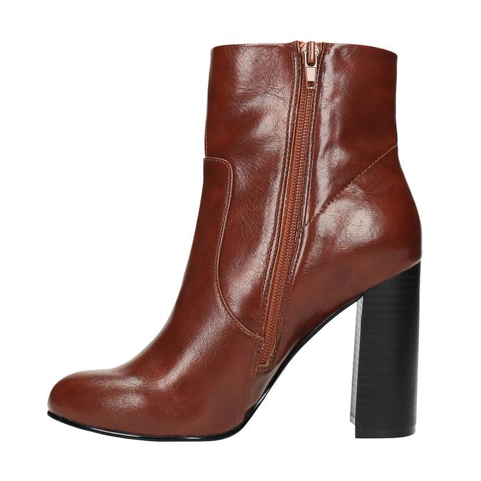 Členková obuv na širokom podpätku bata, hnedá, 791-4611 - 26