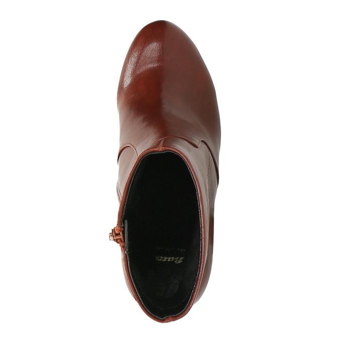 Členková obuv na širokom podpätku bata, hnedá, 791-4611 - 19