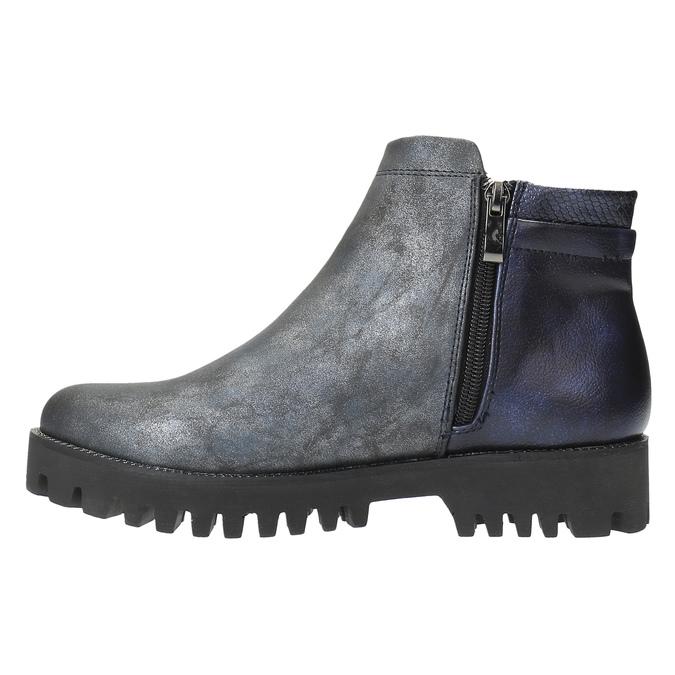 Dámska členková obuv bata, šedá, 591-2615 - 26