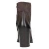 Kožená členková obuv na masívnom podpätku bata, hnedá, 696-4612 - 17