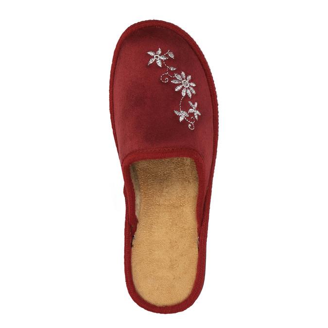 Dámska domáca obuv bata, červená, 579-5348 - 19