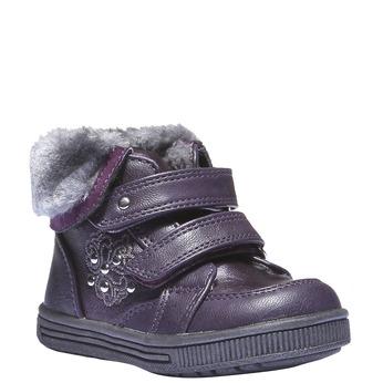 Detské členkové topánky s kožušinkou mini-b, fialová, 121-9102 - 13