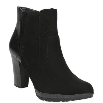 Členková obuv na podpätku bata, čierna, 791-6602 - 13