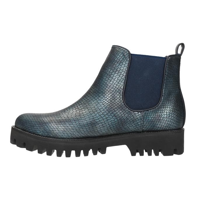 Dámska členková obuv bata, modrá, 591-9616 - 26