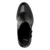 Členková obuv na podpätku s prackou bata, čierna, 791-6610 - 19