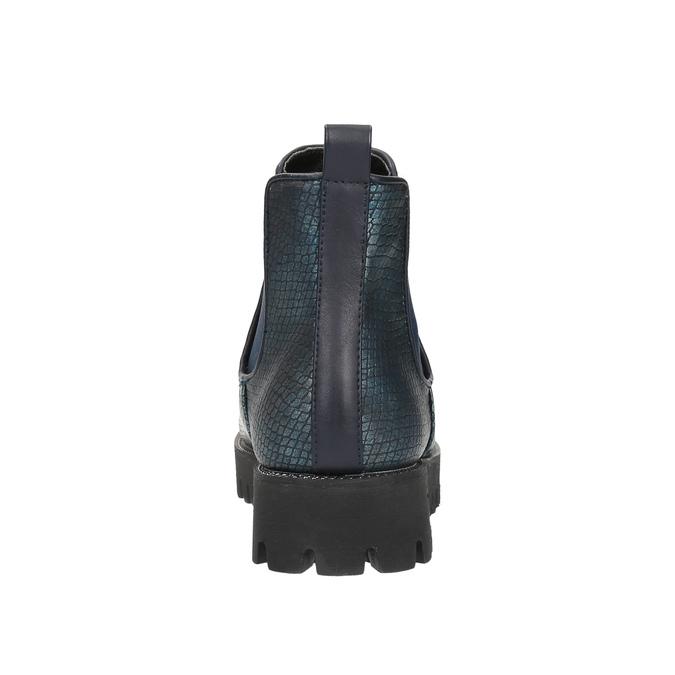 Dámska členková obuv bata, modrá, 591-9616 - 17