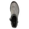 Kožená členková obuv s metalickými prvkami bata, šedá, 596-2619 - 19