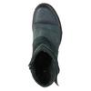 Kožená členková obuv so striebornými detailami bata, 596-9614 - 19