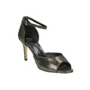Sandále na ihličkovom podpätku so zlatými odleskami bata, čierna, 729-8630 - 13