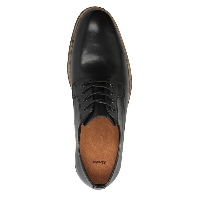 Ležérne kožené poltopánky bata, čierna, 824-6678 - 19