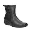 Kožená členková obuv so zipsom bata, čierna, 594-6634 - 13