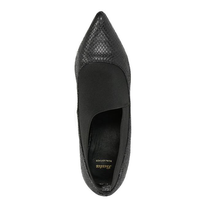 Lodičky s pružným lemom bata, čierna, 721-6600 - 19