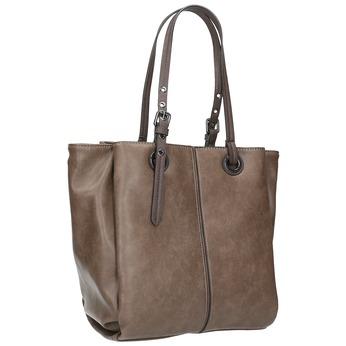 Hnedá dámska kabelka bata, šedá, 961-2123 - 13