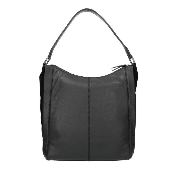 Kožená kabelka v Hobo štýle čierna bata, čierna, 964-6254 - 19