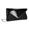 Čierna listová  kabelka so striebornou retiazkou bata, čierna, 961-6221 - 13