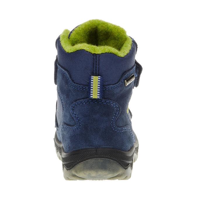 Kožené detské topánky mini-b, modrá, 293-9150 - 17