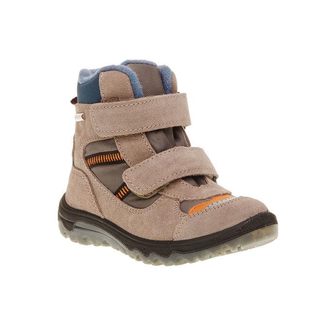 Kožené detské topánky mini-b, šedá, 293-2150 - 13