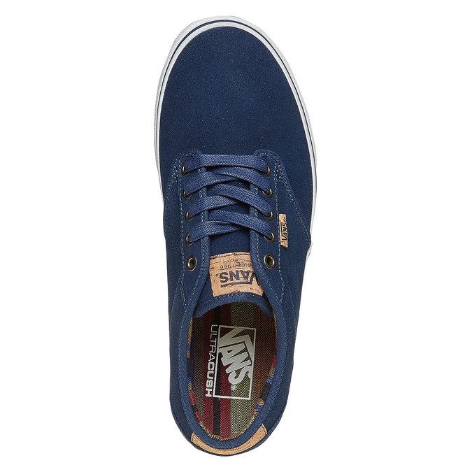 Pánske kožené tenisky vans, modrá, 803-9304 - 19