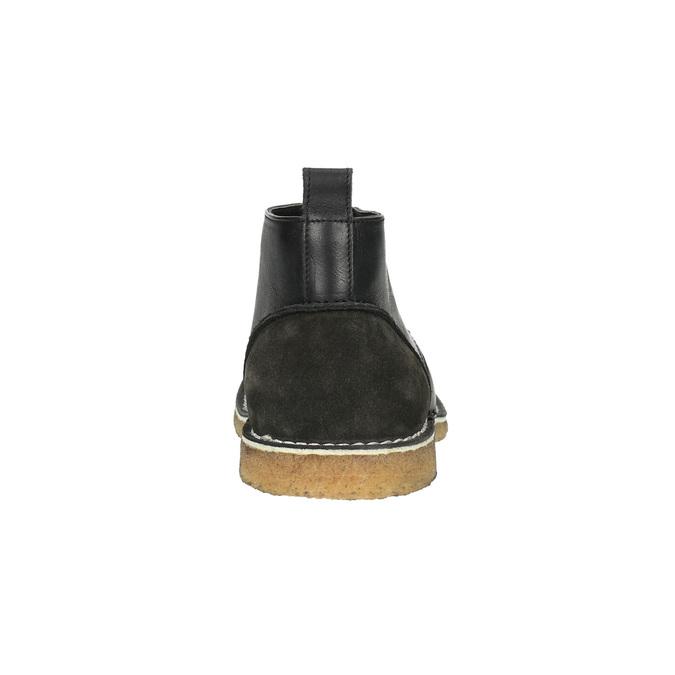 Kožené Chukka Boots bata, čierna, 824-6665 - 17
