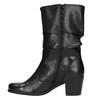 Čierne kožené čižmy bata, čierna, 694-6601 - 19