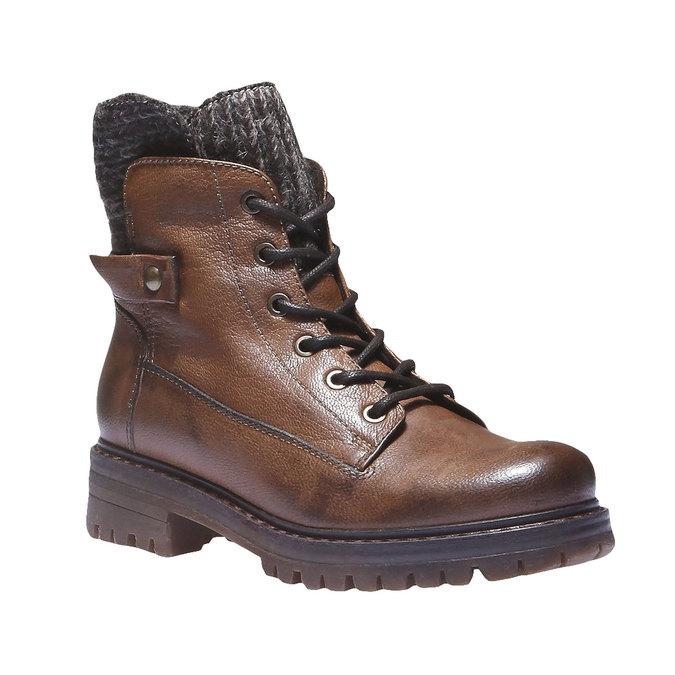 Kožené členkové topánky bata, hnedá, 596-4104 - 13