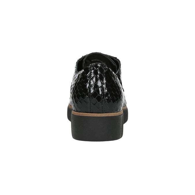 Ležérne kožené dámske poltopánky bata, čierna, 526-6613 - 17