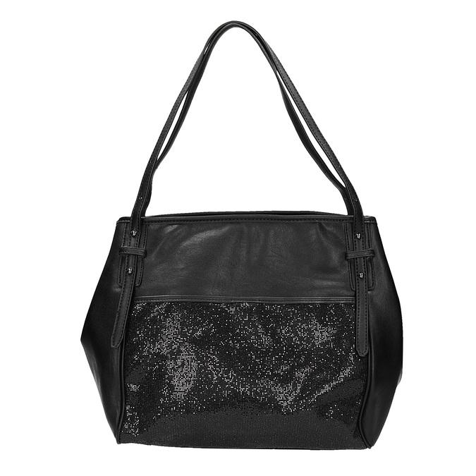 Dámska kabelka s trblietkami bata, čierna, 961-6213 - 26