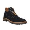 Kožená členková obuv s výraznou podrážkou bata, modrá, 893-9650 - 13