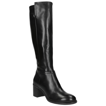 Dámske čižmy na stabilnom podpätku bata, čierna, 694-6361 - 13