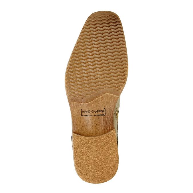 Kožená členková obuv pánska bata, šedá, 894-2620 - 26