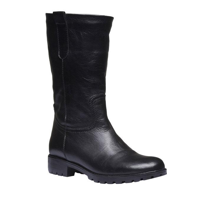 Kožené čižmy bata, čierna, 594-6280 - 13