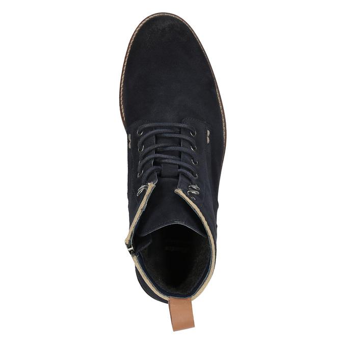 Členková kožená obuv bata, modrá, 893-9651 - 19