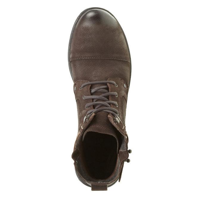 Kožené členkové topánky bata, hnedá, 894-4165 - 19