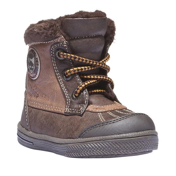 Detská obuv mini-b, hnedá, 191-4100 - 13
