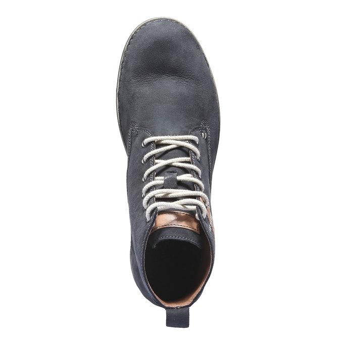 Kožená obuv na šnurovanie weinbrenner, fialová, 896-9340 - 19