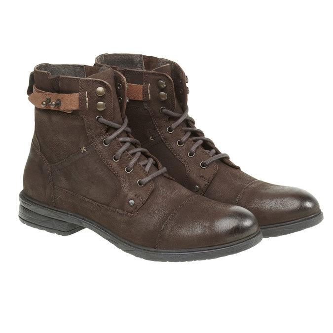 Kožené členkové topánky bata, hnedá, 894-4165 - 26