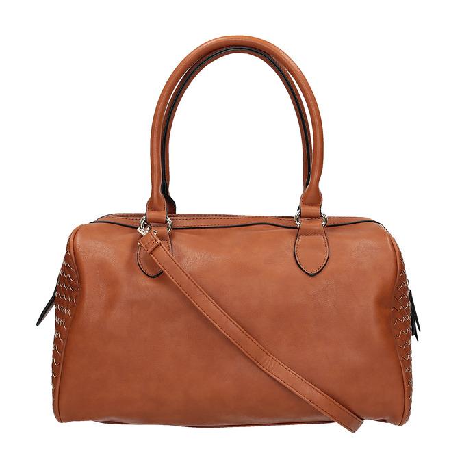 Bowling kabelka s prepletaným vzorom bata, hnedá, 961-3629 - 19