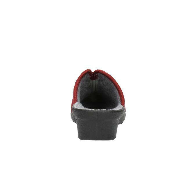 Dámska domáca obuv s plnou špicou bata, červená, 579-5602 - 17