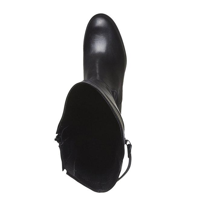 KOŽENÉ ČIŽMY SO ZIPSOM bata, čierna, 694-6226 - 19