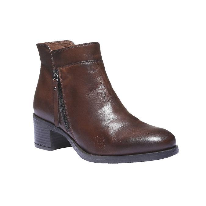 Kožená členková obuv bata, hnedá, 694-4166 - 13