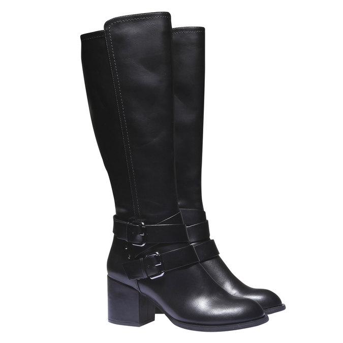 Čižmy s prackami bata, čierna, 791-6156 - 26