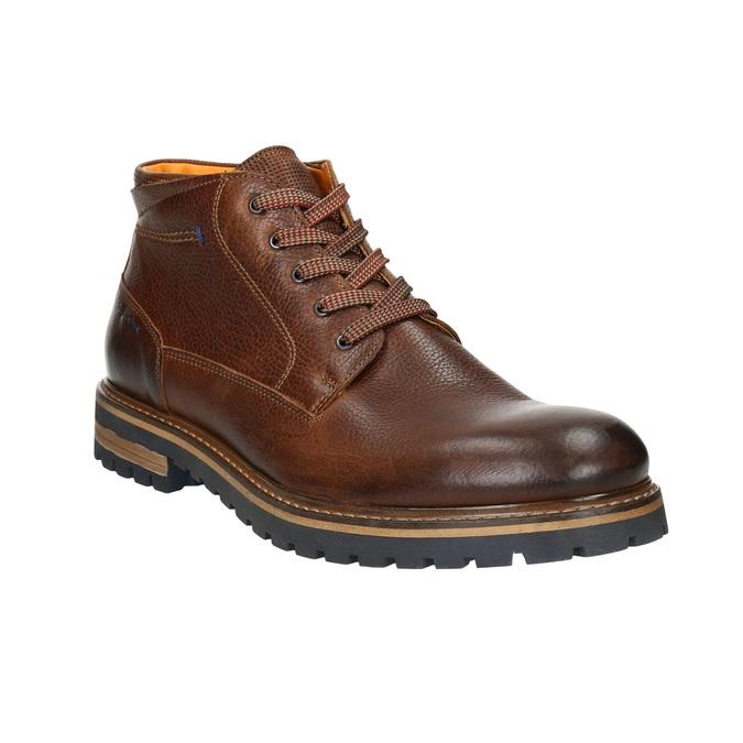 Pánska zimná kožená obuv bata, hnedá, 894-3672 - 13