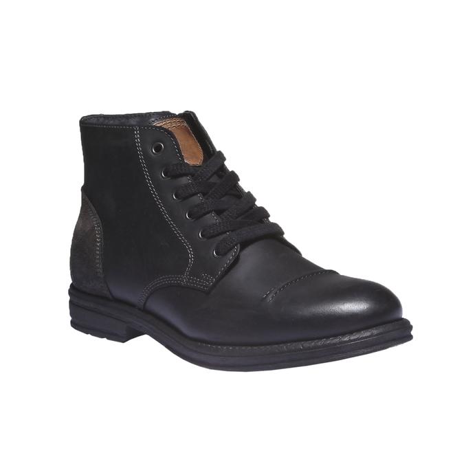 Ležérna kožená obuv bata, čierna, 894-6555 - 13