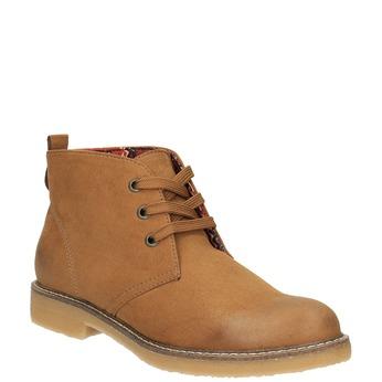 Dámska členková obuv s farebnou podšívkou bata, hnedá, 599-4605 - 13