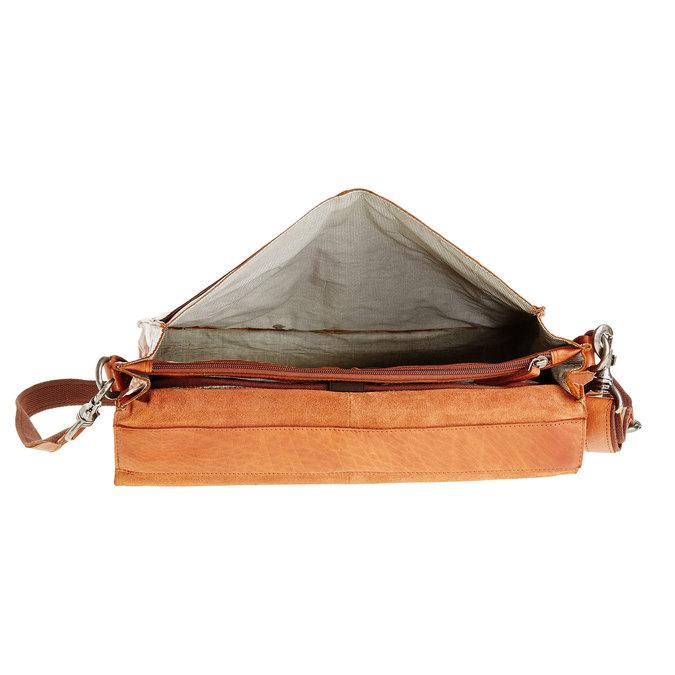 Kožená aktovka bata, hnedá, 964-3138 - 15