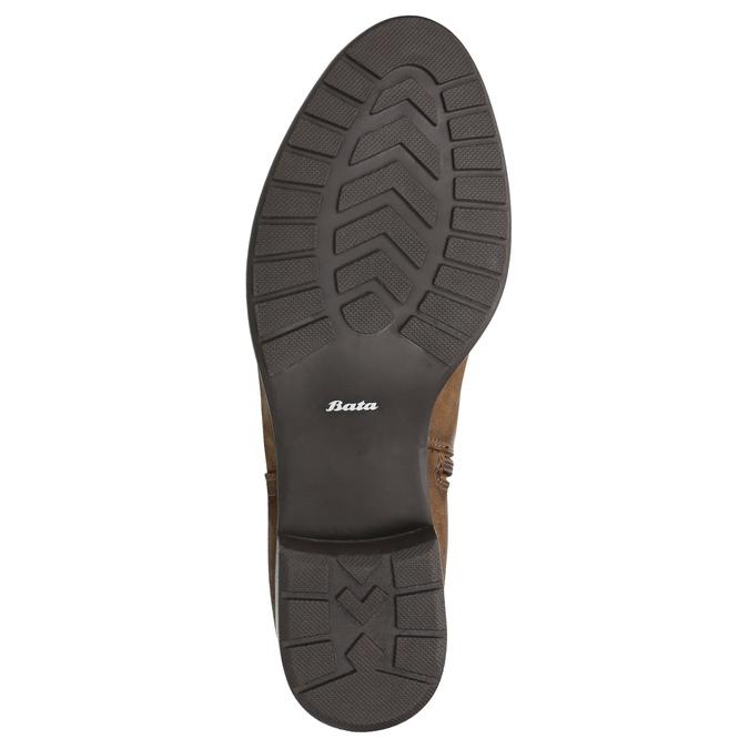 Hnedé kožené čižmy bata, hnedá, 596-4604 - 19