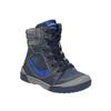 Detská kožená obuv so zateplením bubblegummer, modrá, 116-9102 - 13