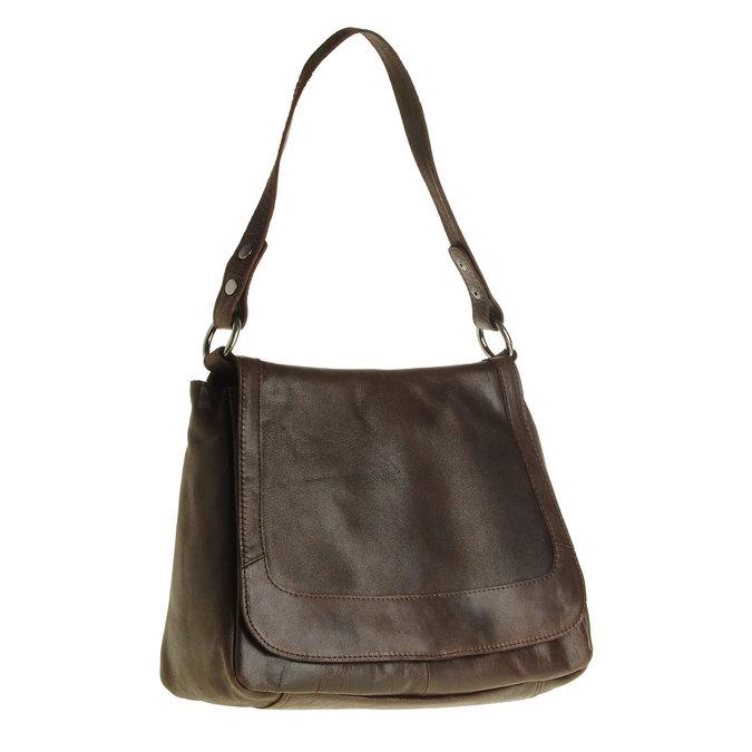 Kožená kabelka s klopou bata, hnedá, 964-4133 - 13