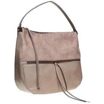 Hobo kabelka so zipsami bata, šedá, 969-2460 - 13