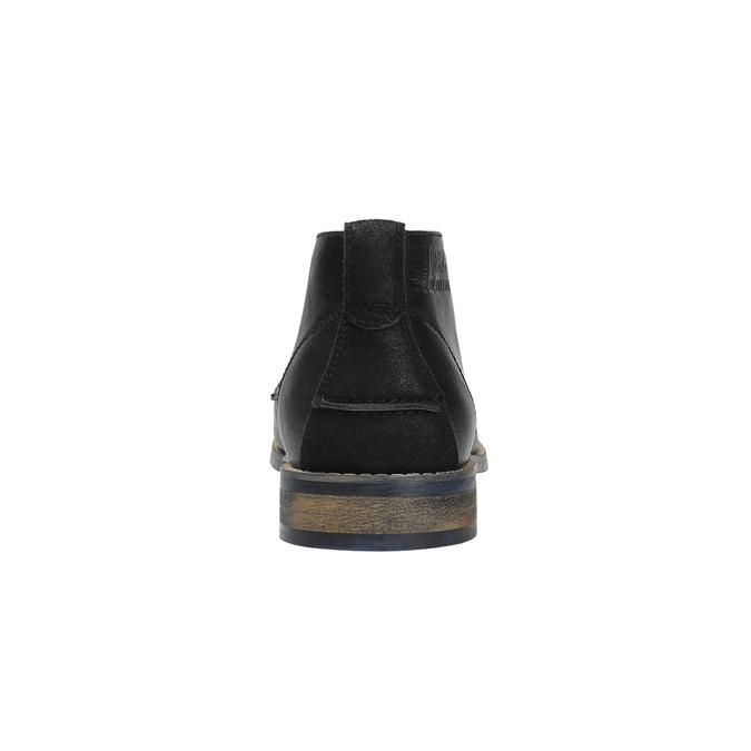 Pánska členková obuv čierna bata, čierna, 891-6600 - 17